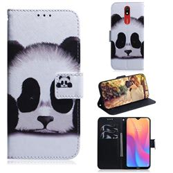 Sleeping Panda PU Leather Wallet Case for Mi Xiaomi Redmi 8A