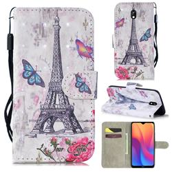 Paris Tower 3D Painted Leather Wallet Phone Case for Mi Xiaomi Redmi 8A