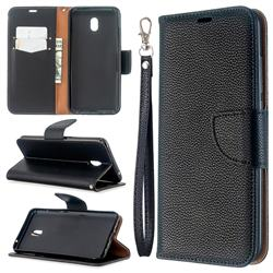 Classic Luxury Litchi Leather Phone Wallet Case for Mi Xiaomi Redmi 8A - Black