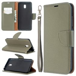 Classic Luxury Litchi Leather Phone Wallet Case for Mi Xiaomi Redmi 8A - Gray