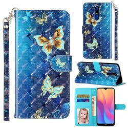 Rankine Butterfly 3D Leather Phone Holster Wallet Case for Mi Xiaomi Redmi 8A