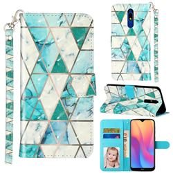Stitching Marble 3D Leather Phone Holster Wallet Case for Mi Xiaomi Redmi 8A