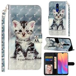 Kitten Cat 3D Leather Phone Holster Wallet Case for Mi Xiaomi Redmi 8A
