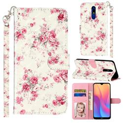 Rambler Rose Flower 3D Leather Phone Holster Wallet Case for Mi Xiaomi Redmi 8A