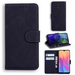 Retro Classic Skin Feel Leather Wallet Phone Case for Mi Xiaomi Redmi 8A - Black