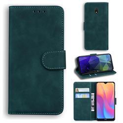 Retro Classic Skin Feel Leather Wallet Phone Case for Mi Xiaomi Redmi 8A - Green