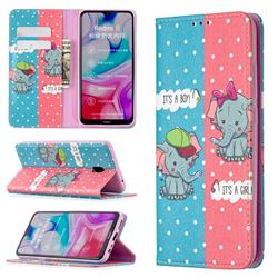 Elephant Boy and Girl Slim Magnetic Attraction Wallet Flip Cover for Mi Xiaomi Redmi 8A