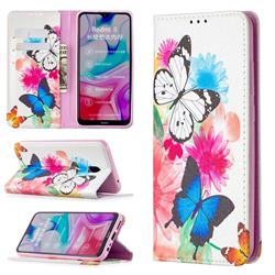 Flying Butterflies Slim Magnetic Attraction Wallet Flip Cover for Mi Xiaomi Redmi 8A