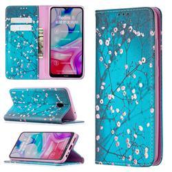 Plum Blossom Slim Magnetic Attraction Wallet Flip Cover for Mi Xiaomi Redmi 8A