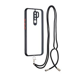 Necklace Cross-body Lanyard Strap Cord Phone Case Cover for Xiaomi Redmi 9 - Black