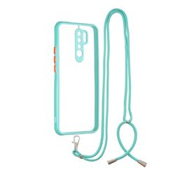 Necklace Cross-body Lanyard Strap Cord Phone Case Cover for Xiaomi Redmi 9 - Blue