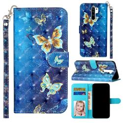 Rankine Butterfly 3D Leather Phone Holster Wallet Case for Xiaomi Redmi 9