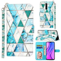 Stitching Marble 3D Leather Phone Holster Wallet Case for Xiaomi Redmi 9