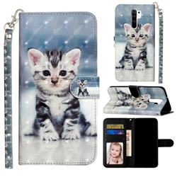 Kitten Cat 3D Leather Phone Holster Wallet Case for Xiaomi Redmi 9