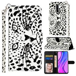 Leopard Panther 3D Leather Phone Holster Wallet Case for Xiaomi Redmi 9