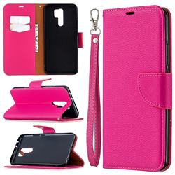 Classic Luxury Litchi Leather Phone Wallet Case for Xiaomi Redmi 9 - Rose