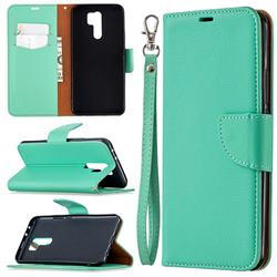 Classic Luxury Litchi Leather Phone Wallet Case for Xiaomi Redmi 9 - Green