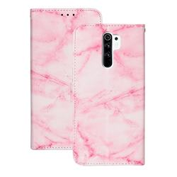 Pink Marble PU Leather Wallet Case for Xiaomi Redmi 9