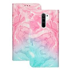 Pink Green Marble PU Leather Wallet Case for Xiaomi Redmi 9
