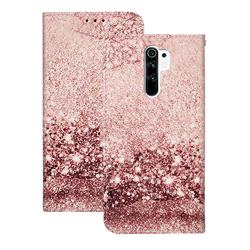 Glittering Rose Gold PU Leather Wallet Case for Xiaomi Redmi 9