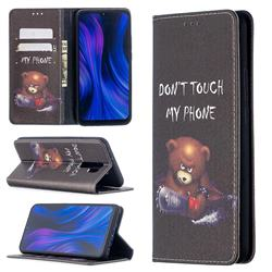 Chainsaw Bear Slim Magnetic Attraction Wallet Flip Cover for Xiaomi Redmi 9