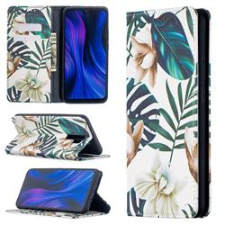 Flower Leaf Slim Magnetic Attraction Wallet Flip Cover for Xiaomi Redmi 9
