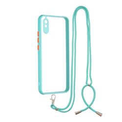 Necklace Cross-body Lanyard Strap Cord Phone Case Cover for Xiaomi Redmi 9A - Blue