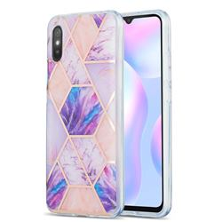 Purple Dream Marble Pattern Galvanized Electroplating Protective Case Cover for Xiaomi Redmi 9A