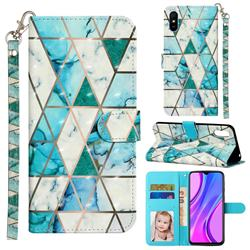 Stitching Marble 3D Leather Phone Holster Wallet Case for Xiaomi Redmi 9A