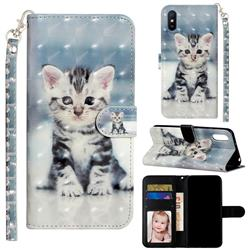 Kitten Cat 3D Leather Phone Holster Wallet Case for Xiaomi Redmi 9A