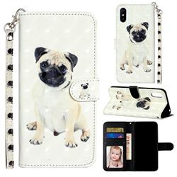 Pug Dog 3D Leather Phone Holster Wallet Case for Xiaomi Redmi 9A