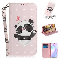 Heart Cat 3D Painted Leather Wallet Phone Case for Xiaomi Redmi 9A