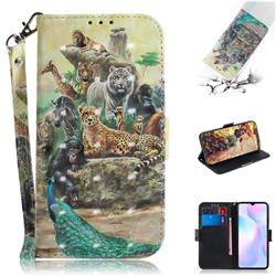 Beast Zoo 3D Painted Leather Wallet Phone Case for Xiaomi Redmi 9A