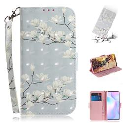 Magnolia Flower 3D Painted Leather Wallet Phone Case for Xiaomi Redmi 9A