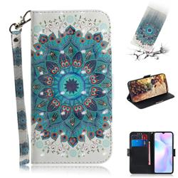 Peacock Mandala 3D Painted Leather Wallet Phone Case for Xiaomi Redmi 9A
