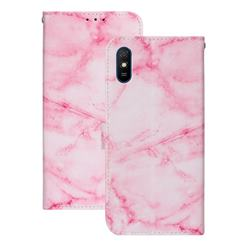 Pink Marble PU Leather Wallet Case for Xiaomi Redmi 9A