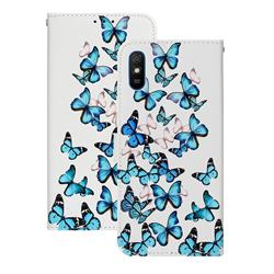 Blue Vivid Butterflies PU Leather Wallet Case for Xiaomi Redmi 9A