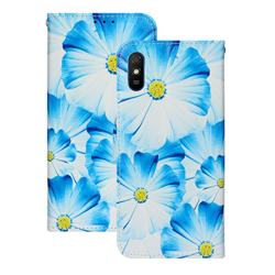 Orchid Flower PU Leather Wallet Case for Xiaomi Redmi 9A
