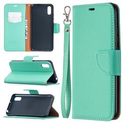 Classic Luxury Litchi Leather Phone Wallet Case for Xiaomi Redmi 9A - Green