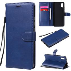 Retro Greek Classic Smooth PU Leather Wallet Phone Case for Xiaomi Redmi 9A - Blue