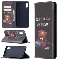Chainsaw Bear Slim Magnetic Attraction Wallet Flip Cover for Xiaomi Redmi 9A