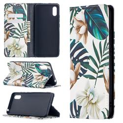 Flower Leaf Slim Magnetic Attraction Wallet Flip Cover for Xiaomi Redmi 9A