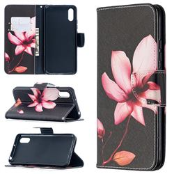 Lotus Flower Leather Wallet Case for Xiaomi Redmi 9A