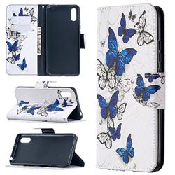 Flying Butterflies Leather Wallet Case for Xiaomi Redmi 9A