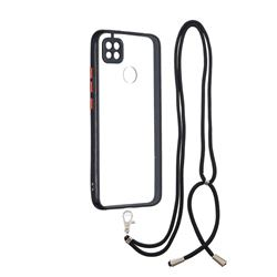 Necklace Cross-body Lanyard Strap Cord Phone Case Cover for Xiaomi Redmi 9C - Black