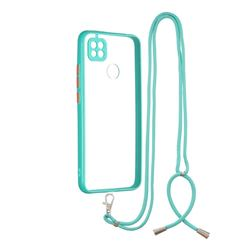 Necklace Cross-body Lanyard Strap Cord Phone Case Cover for Xiaomi Redmi 9C - Blue