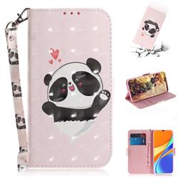 Heart Cat 3D Painted Leather Wallet Phone Case for Xiaomi Redmi 9C