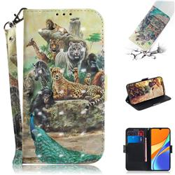 Beast Zoo 3D Painted Leather Wallet Phone Case for Xiaomi Redmi 9C