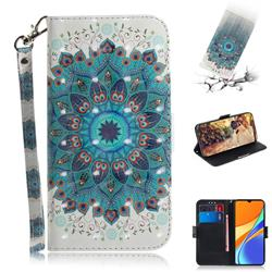 Peacock Mandala 3D Painted Leather Wallet Phone Case for Xiaomi Redmi 9C