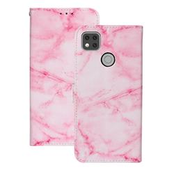 Pink Marble PU Leather Wallet Case for Xiaomi Redmi 9C